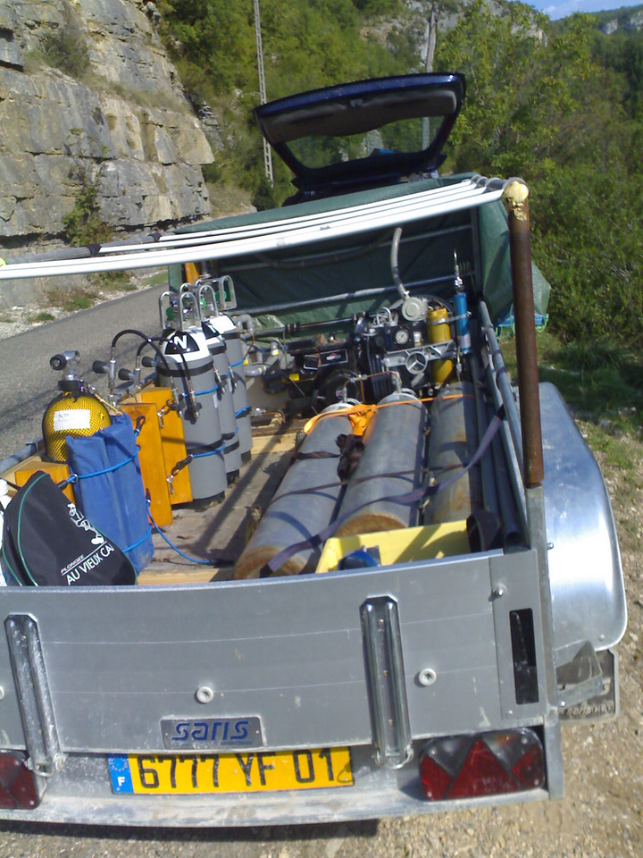 Possibly the coolest trailer/mobile filling station in the world