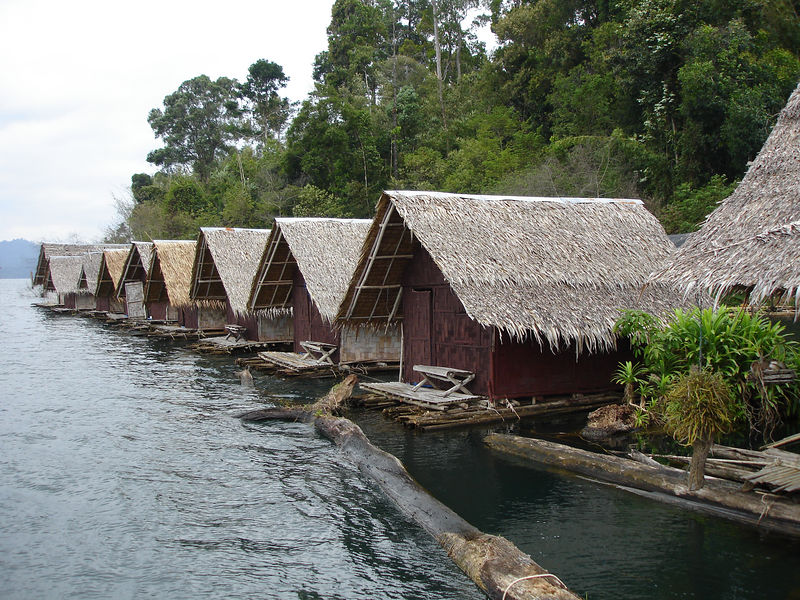 We stayed in floating bamboo huts.   No electricity/aircon/running water/door locks/cupboards - just a straw hut.  Basic - but actually quite nice.