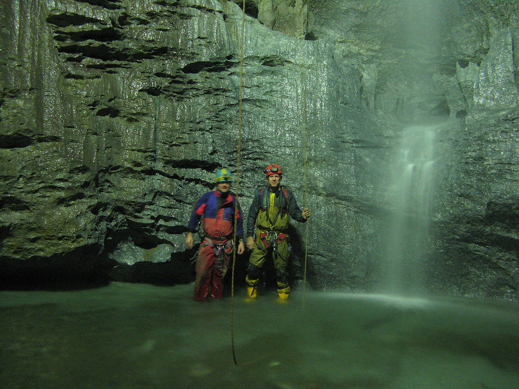 Me and the Doc at base of 30m fall we just came down