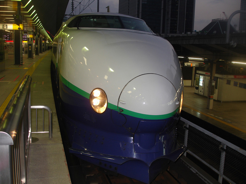 Shinkansen bullet train that took me from Tokyo to Shin Hanamaki