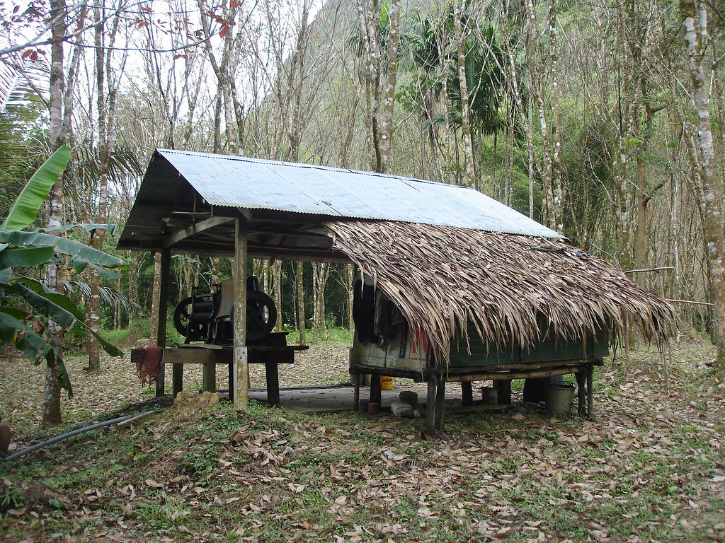 Farmers hut near Tham Thong Lang