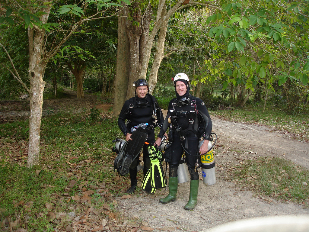 Me and Ben after exiting Tham Sa Yuan Thong