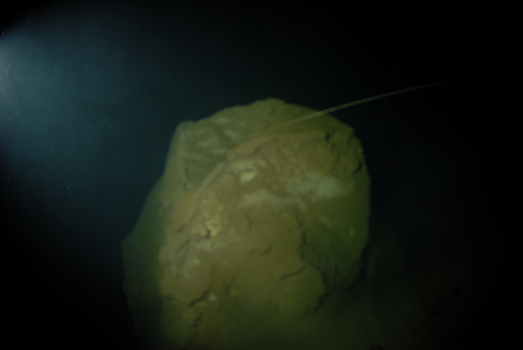 Rock sits on top of breakdown mound at depth 95m
