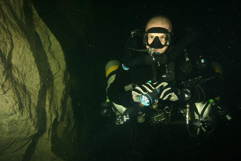 Matt at the cave entrance (55m)