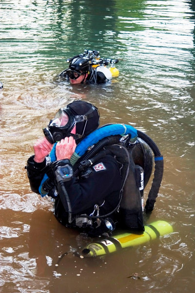 Full face mask, twin rebreather as well as full OC bail out staged and carried - we had plenty of redundancy