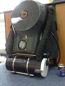 My butt mounted bail out rebreather