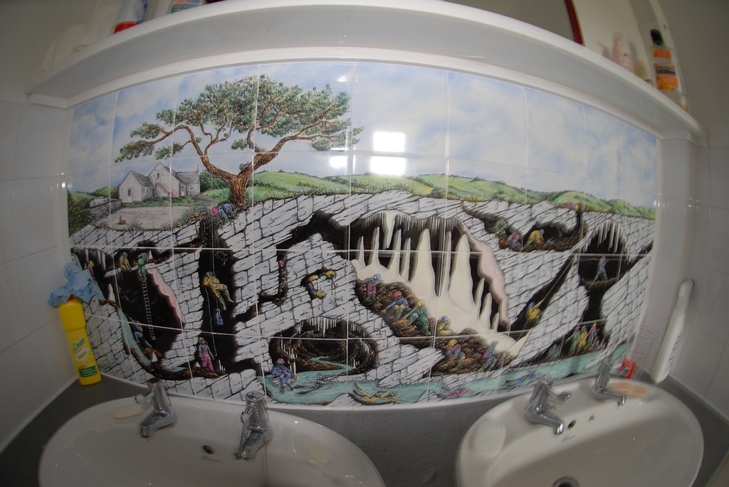 Cool pic in Wessex caving club toilet