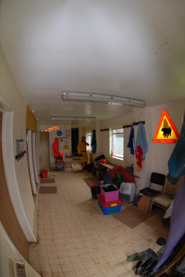 Changing room at Wessex caving club