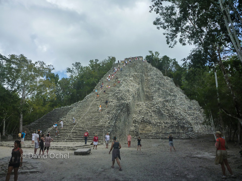 The big pyramid at Coba.