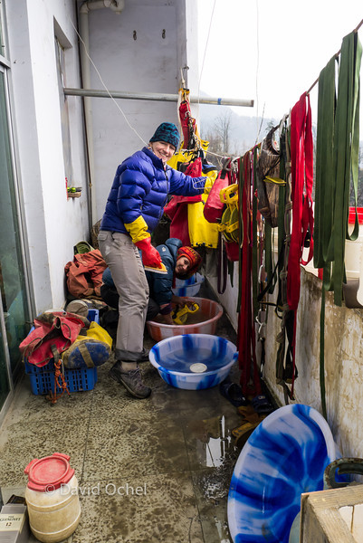 Cleaning gear at the Tongzi Centre.