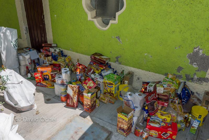 Food got split into three rations.