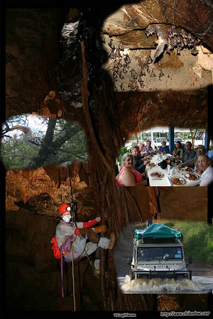 Mother Lode Grotto members go off  to visit the caves of Lobatse Estates.