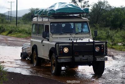 The roads were a little wet