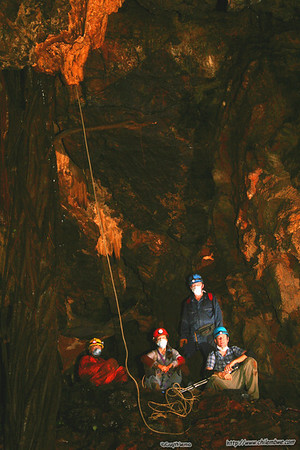 Group photo in Lobatse cave #1
