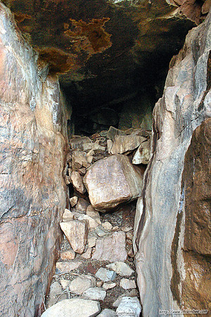 Small cave on hill top