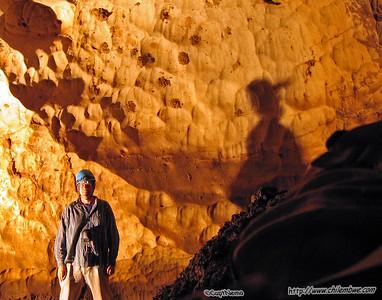 Tom in Samwel cave.