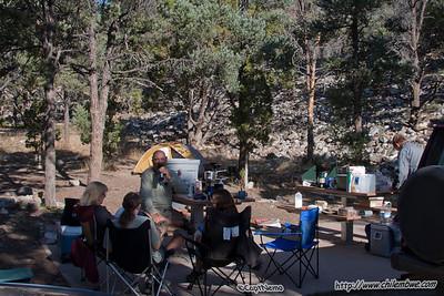Sitting around the campground