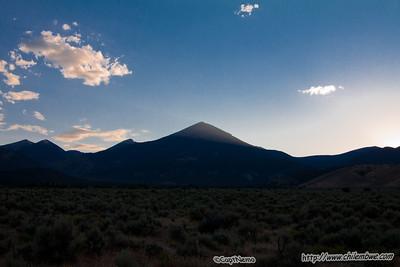 Wheeler peak at sunset