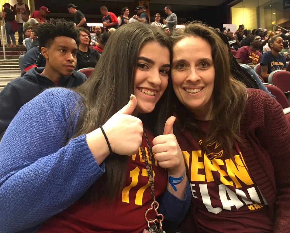 . Katie and Kathy Gray of Strongsville at Cavs Watch Party. David S. Glasier - The News-Herald