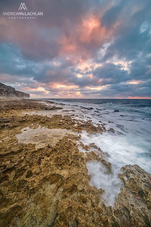 Pollard Bay at sunrise, Cayman Brac, British West Indies