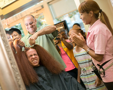 Dad wanted to take the first cut  ..with Puspa Rumba