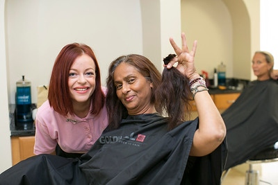 Rosie McLachlan with Anita Khan (Radio Cayman)