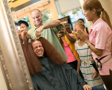 Kai Bush  dad's number 925-9698 grown hair more than 4 years!