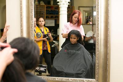 Vianna Cuevas-Ebanks hairdresser Rosie McLachlan