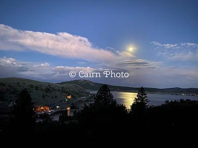 Panguitch Lake moon rise