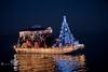 The Winning Boat at the 2010 Cedar Key Christmas Boat Parade - Photo by Pat Bonish