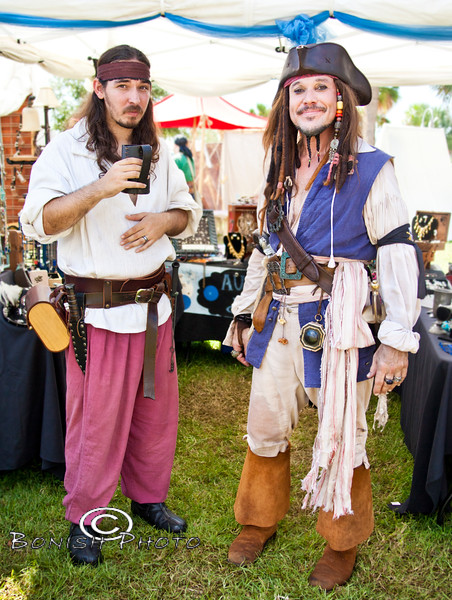 Dressed to the Nines - Cedar Key Pirate Fest - Photo by Pat Bonish