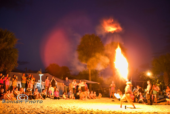 When a Fire Eater Burps, Its Quite the Display - Cedar Key Pirate Fest - Photo by Pat Bonish
