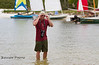 Jay Golien working the Cedar Key Small Boat Show - Photo by Pat Bonish