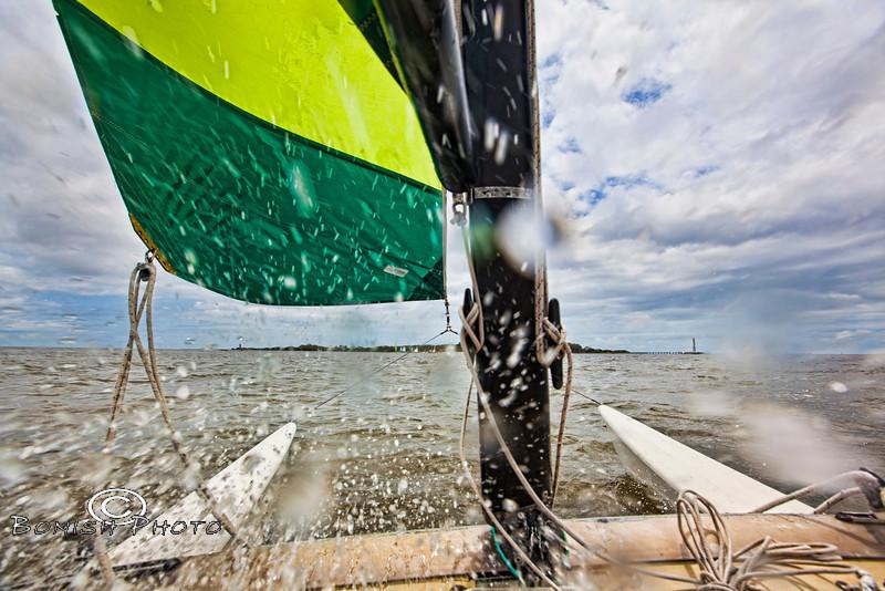 Full Frontal Sailing - Cedar Key Florida - Photo by Pat Bonish
