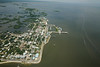 The giant town of Cedar Key as seen from 1000 feet - Photo by Pat Bonish