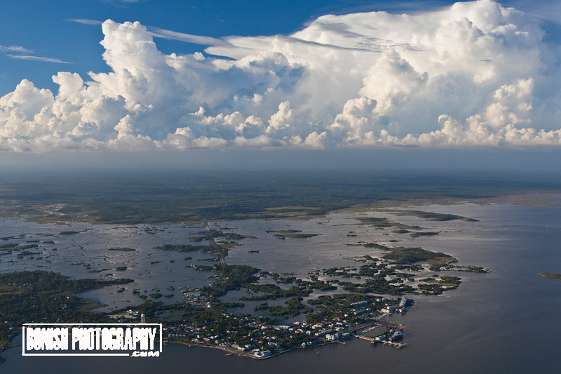 Cedar Key looking North from the Gulf of Mexico - June 2017 - Photo by Pat Bonish