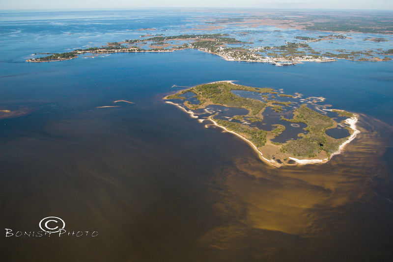 View of Cedar Key from Behind Atsena Otie Key - Photo by Pat Bonish