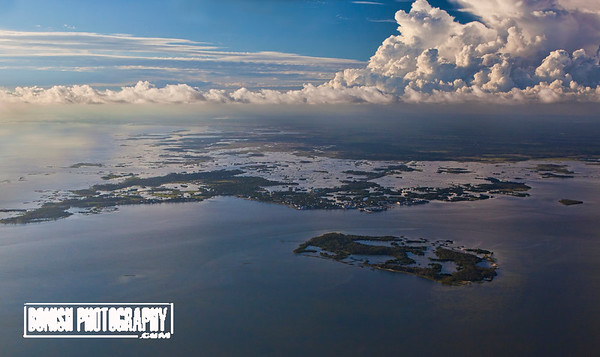 Cedar Key with a storm approaching from the North East - June 2017 - Photo by Pat Bonish