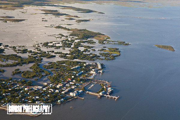 Downtown Cedar Key looking Northeast - June 2017 - Photo by Pat Bonish