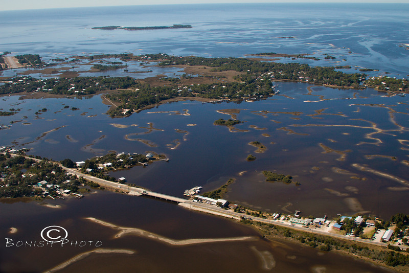 The Cedar Keys from above - Photo by Pat Bonish