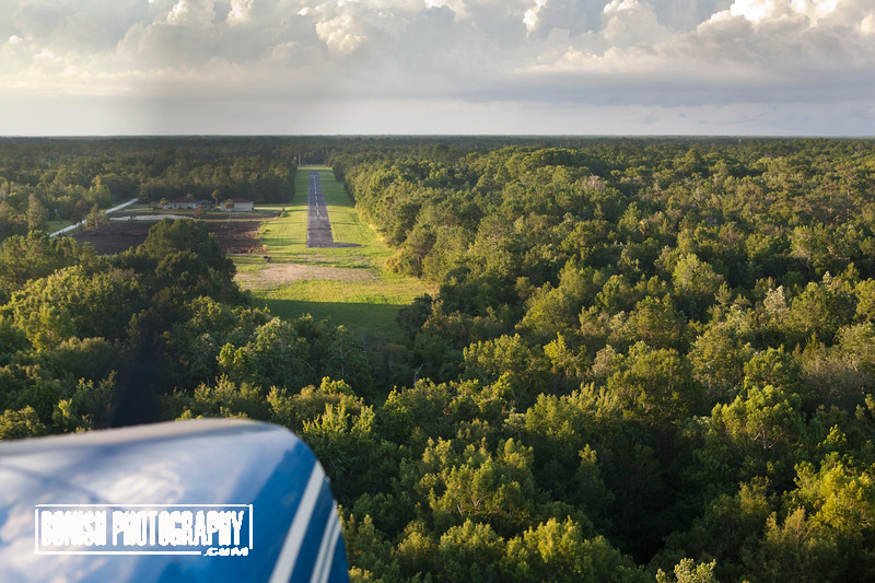 Approaching Cedars Airfeld - June 2017 - Photo by Pat Bonish