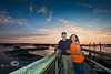 Mike & Beth Davis  taking in a Low-Key Sunset - Photo by Pat Bonish