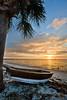 Sunrise on the White Sand Beaches of Cedar Key Florida Photo by Pat Bonish