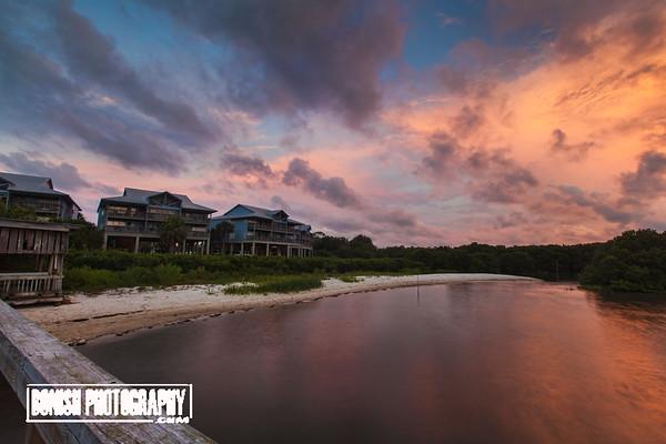 Sunrise at Old Fenimore Mill - Cedar Key FL