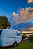 Trillium Camper at Sunset camped at Sunset Isle RV Park - Cedar Key Florida - Photo by Pat Bonish