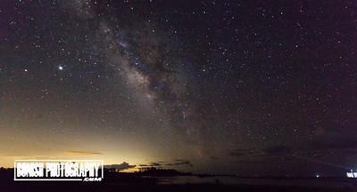 Milky Way over the Shell Mound area of Cedar Key - Photo by Pat Bonish