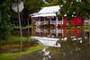 American Legion with it's new Pond - Cedar Key Florida - Photo by Pat Bonish