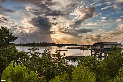 Sunset over the Back Bayou