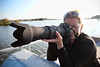 Trying to Zoom in on an Eagle's Nest - Cindy Bonish behind the 500mm - Photo by Pat Bonish
