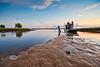 Sunset Cast Netting - Cedar Key Florida - Photo by Pat Bonish